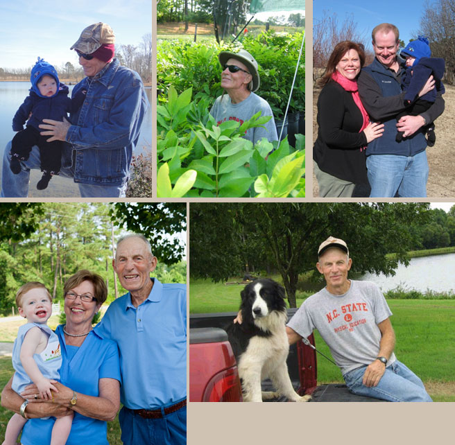 Family Photos, Bill with Dog, Bill with Trees